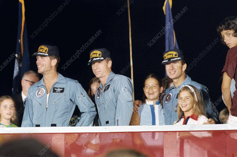 Apollo 15 crew return, August 1971
