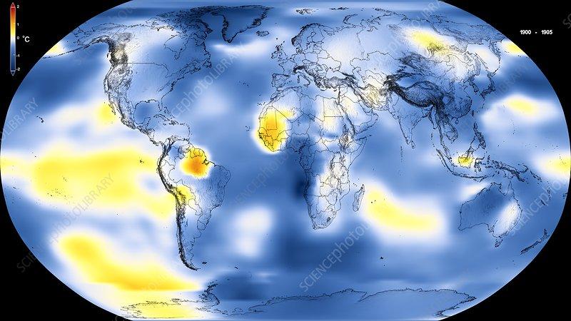 Global warming record, 1900-1905