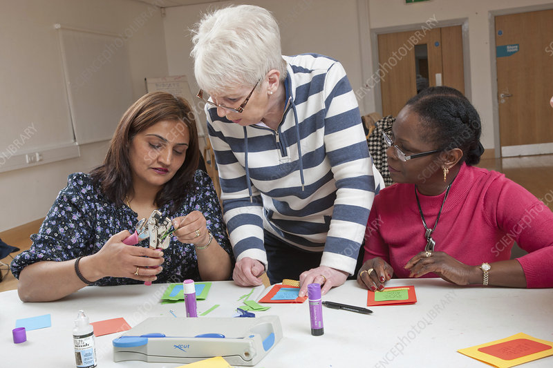 Craft class at community centre
