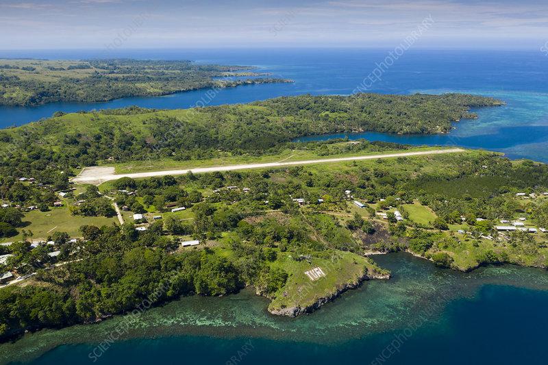Aerial view of Tufi, Papua New Guinea