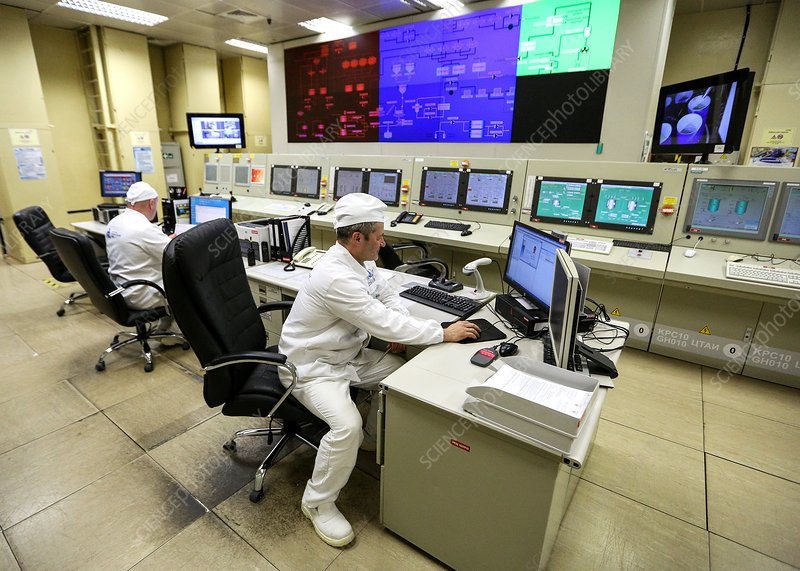 Nuclear power station waste control room