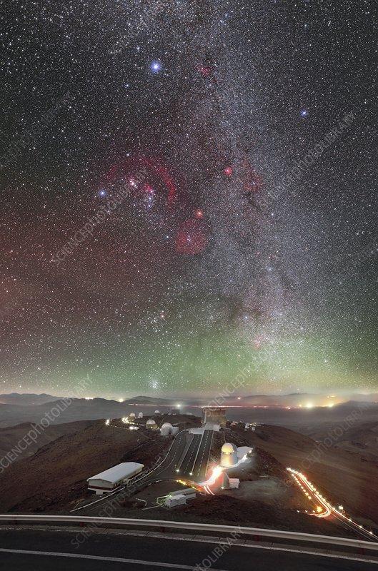 Orion over La Silla Observatory, Chile