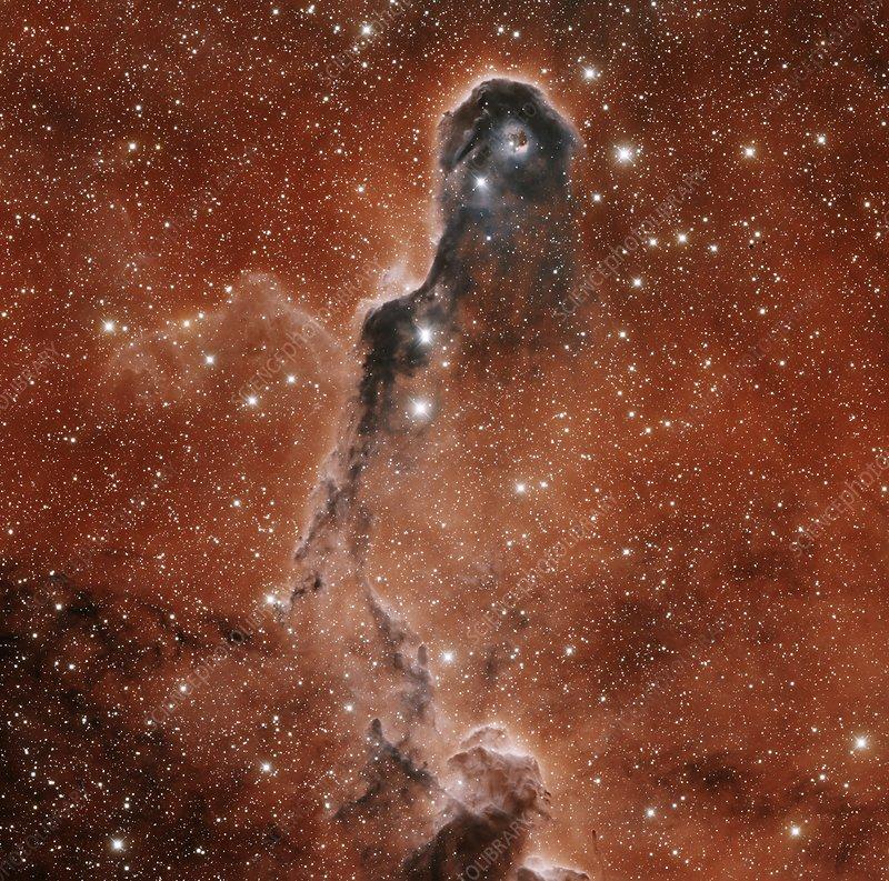 Elephant's Trunk Nebula, optical image