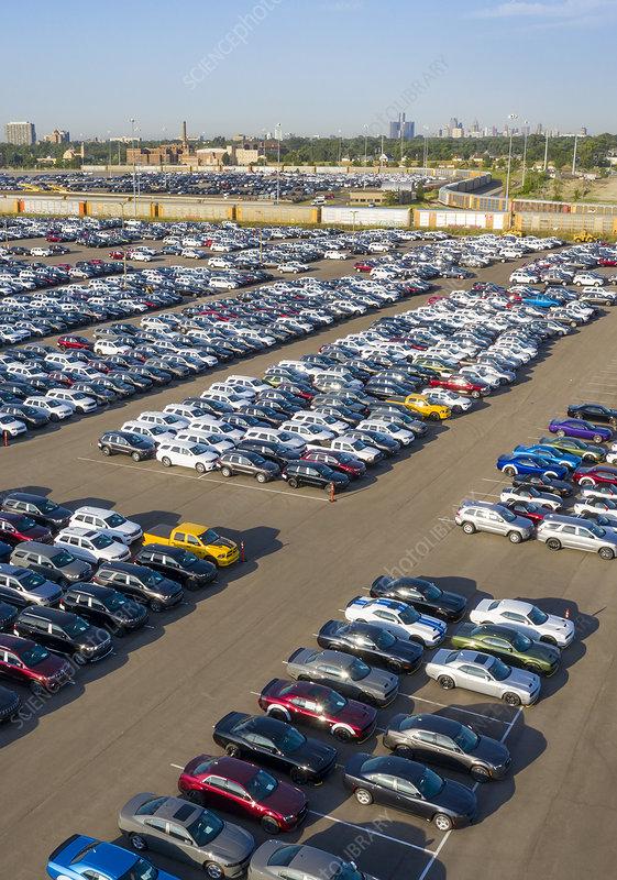 Auto assembly plant, Detroit, USA