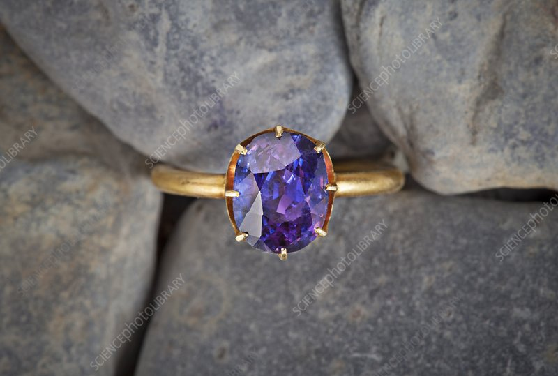 Oriental amethyst ring