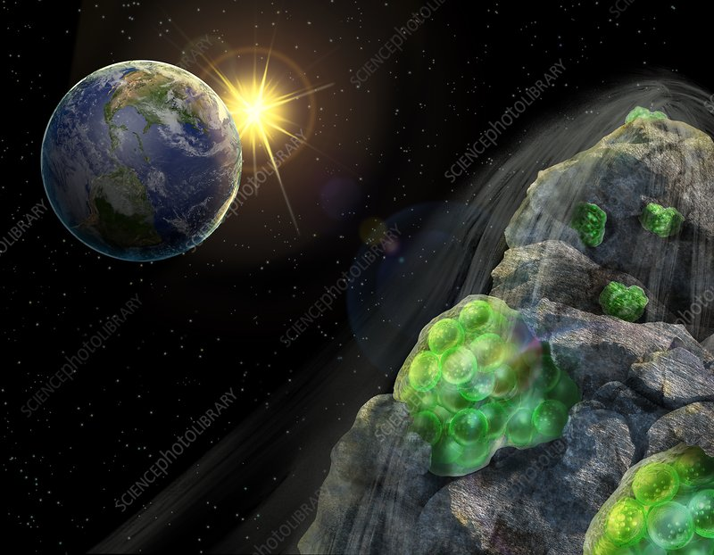 Space extremophiles, illustration