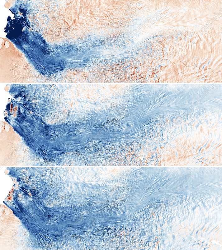 Greenland glacier growth from 2016 to 2019