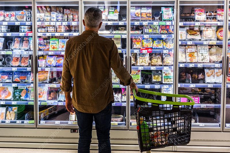 Man in a supermarket