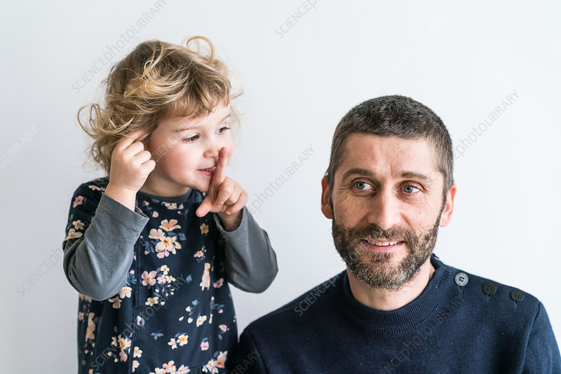 Father with his 3 year old daughter