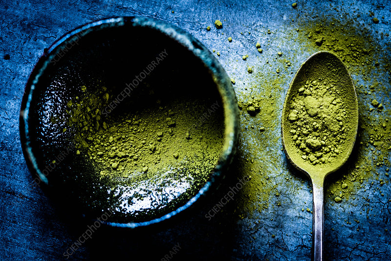 Matcha, powdered Japanese green tea