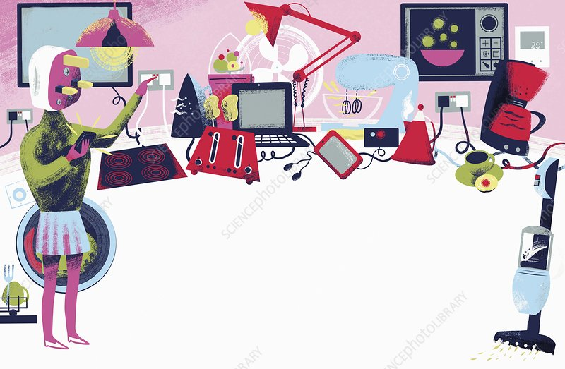 Electrical home appliances, illustration