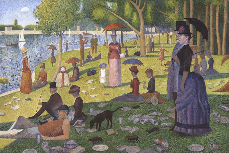 Parody of Georges Seurat's 'A Sunday on La Grande Jatte'