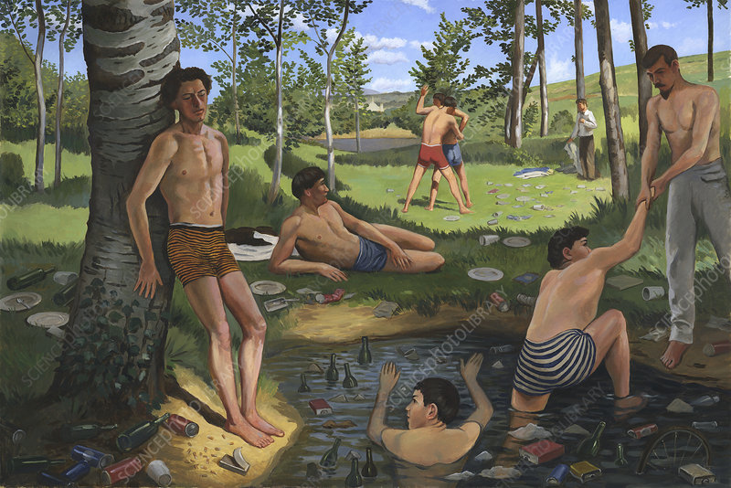 Parody of Bazille's 'Summer Scene'