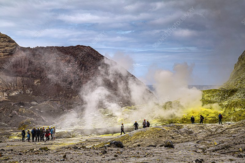 Whakaari volcano tour group, New Zealand