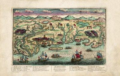 Gulf of Mexico coastline, 18th century