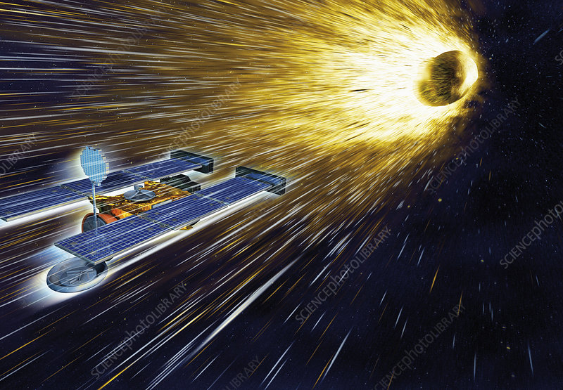 Stardust mission at comet Wild 2, illustration