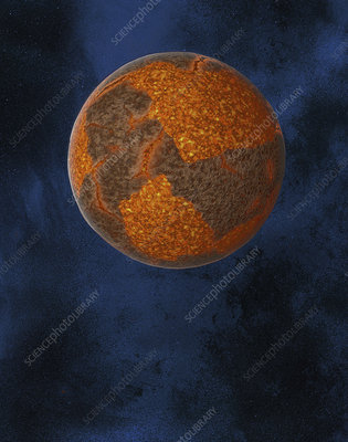 Formation of the Earth, illustration