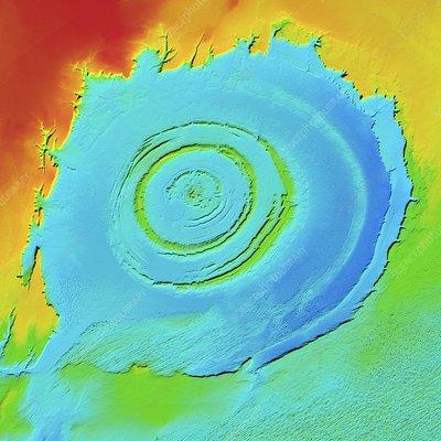 Richat Structure, LiDAR satellite image