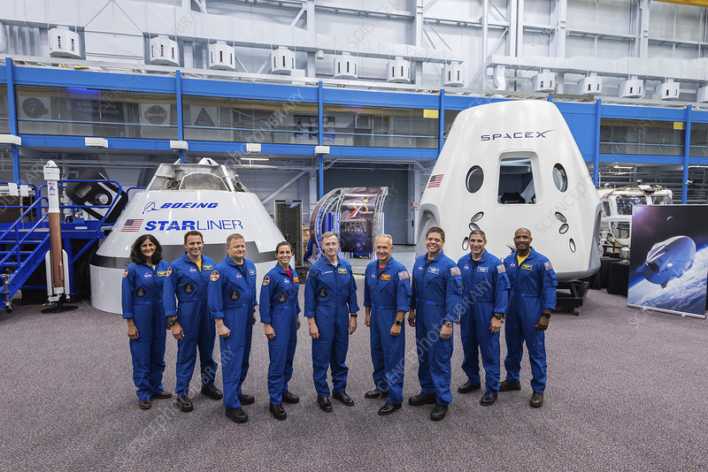 Commercial Crew Program astronauts and spacecraft, 2018