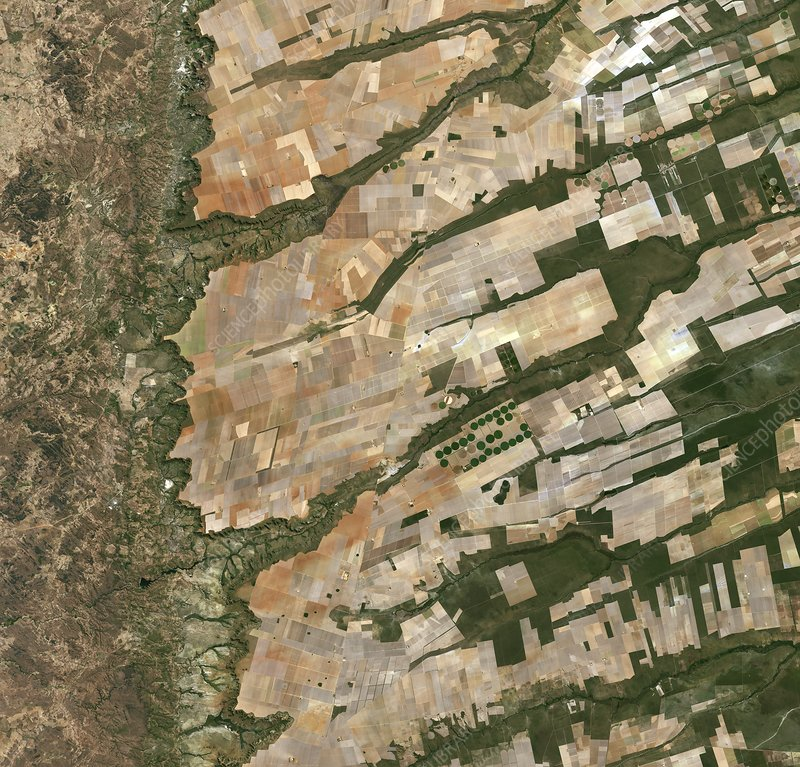 Agriculture in Brazil, satellite image