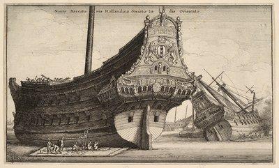 Dutch East Indiaman ship, 17th century