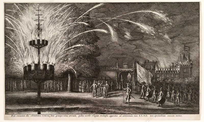 Imperial fireworks display, 17th century