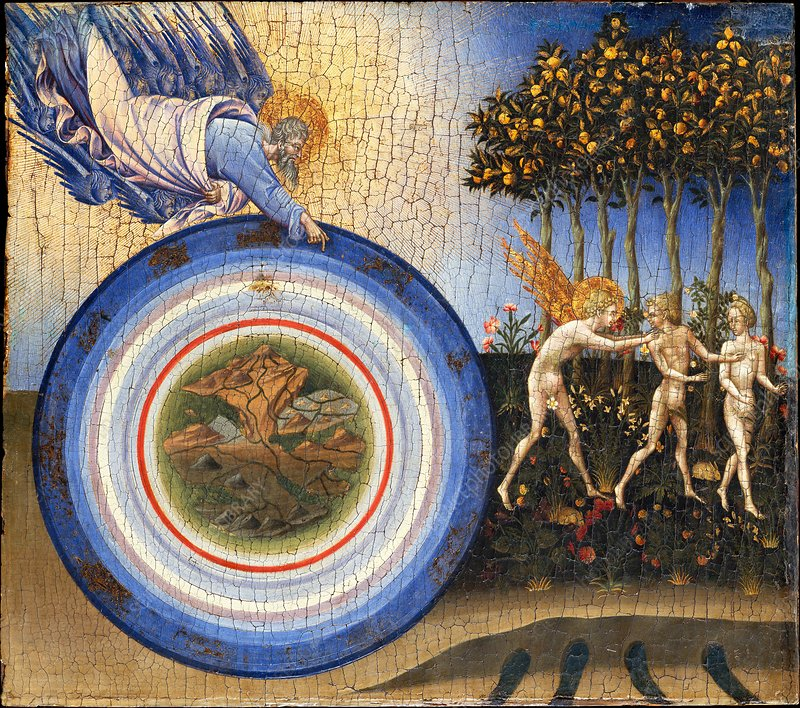 Creation and the Expulsion from Paradise, 15th century