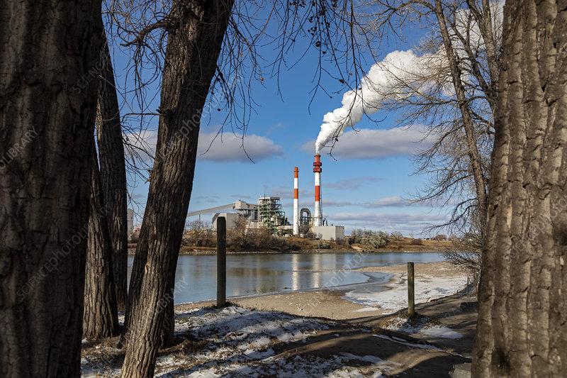 Coal-fired power plant, Montana, USA