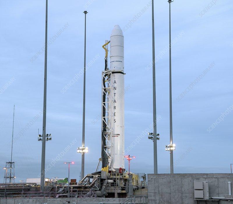 Northrop Grumman Antares rocket on launch pad