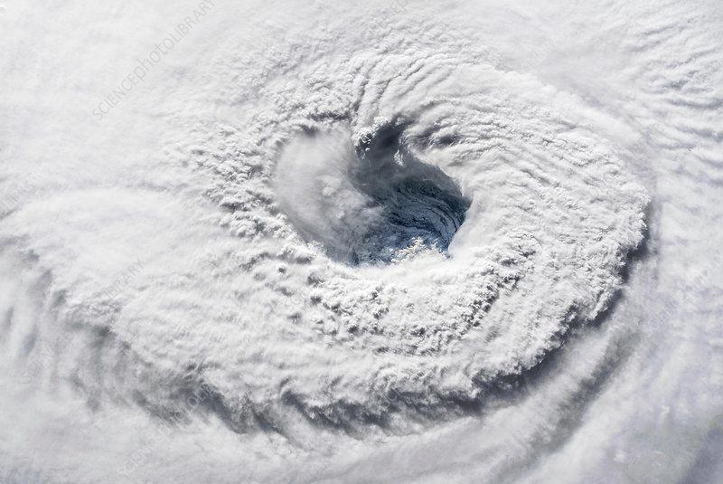 Eye of Hurricane Florence, ISS image