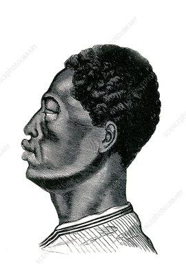 Ethiopian man, 19th Century illustration