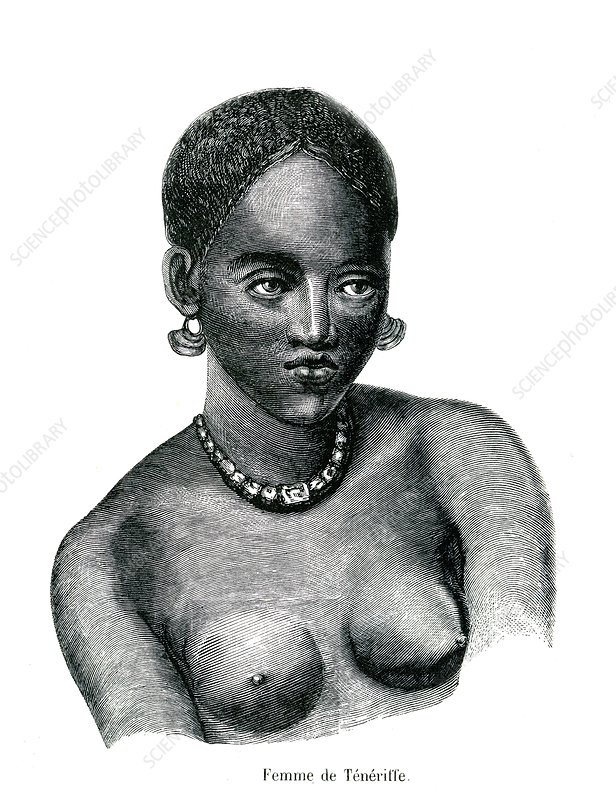 Canary Islands woman, 19th Century illustration
