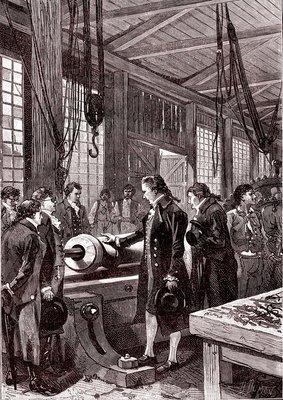 Benjamin Thompson, US physicist, 19th Century illustration