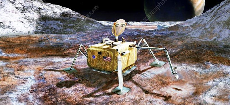 Lander for future mission to Europa, illustration