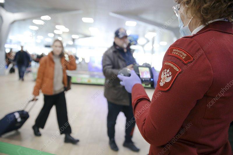Travel screening in Russia during coronavirus outbreak, 2020