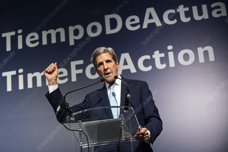 John Kerry, American politician, at COP25, Madrid, 2019