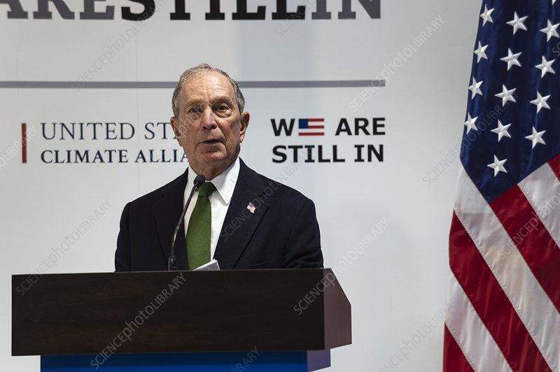 Michael Bloomberg, US politician, at COP25, Madrid, 2019