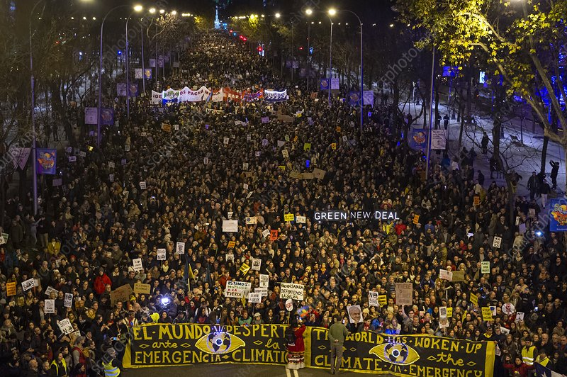 Climate change protest, Madrid, Spain, 2019