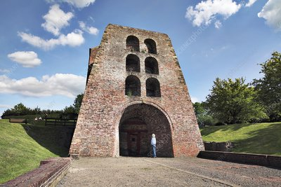 Moira blast furnace, Leicestershire, UK