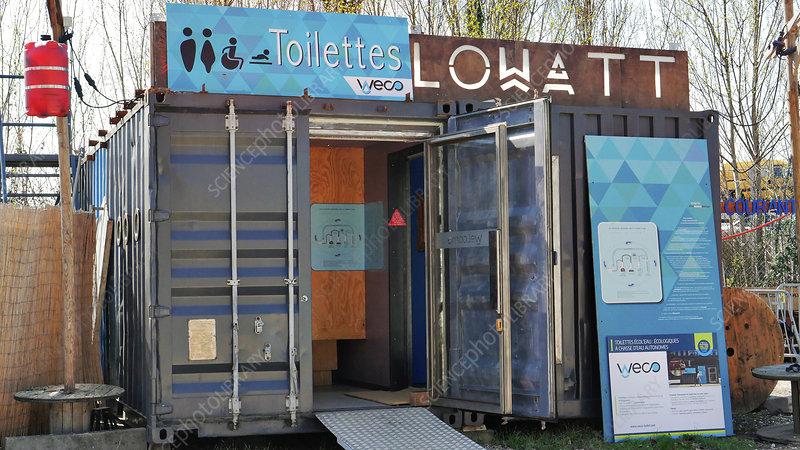 Eco-friendly public toilet in France