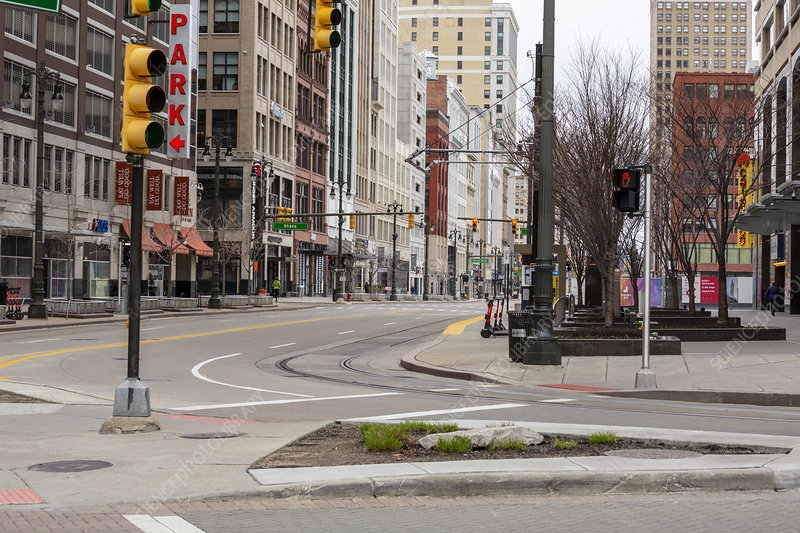 Empty streets during Covid-19 outbreak