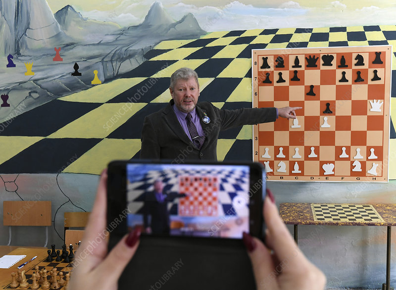 Online chess lesson during coronavirus outbreak