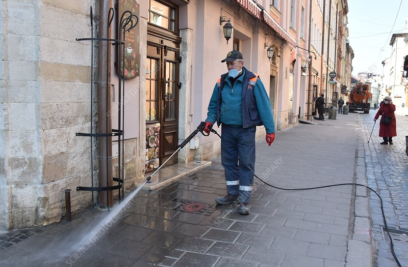 Street cleaning during Covid-19 outbreak
