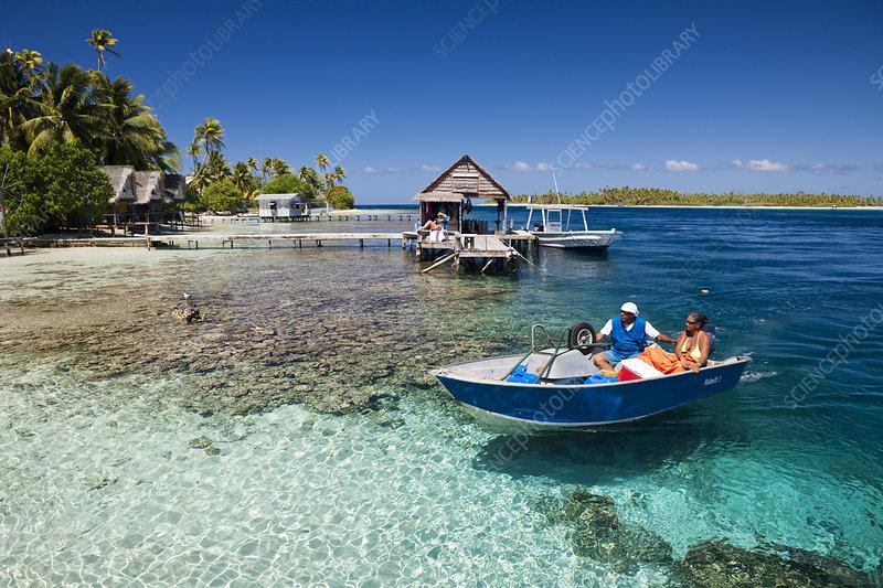 Lagoon, Tetamanu Village, French Polynesia