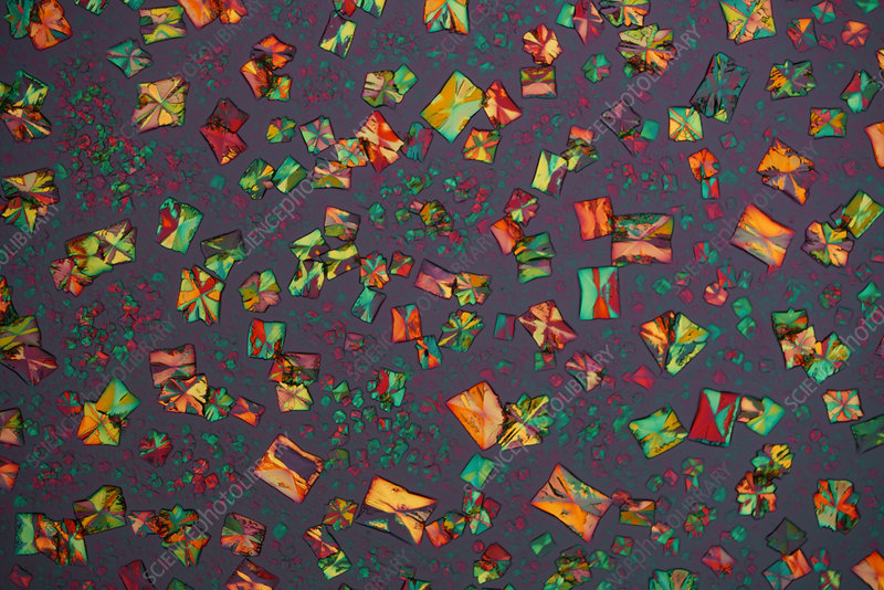 Copper chloride, polarised light micrograph