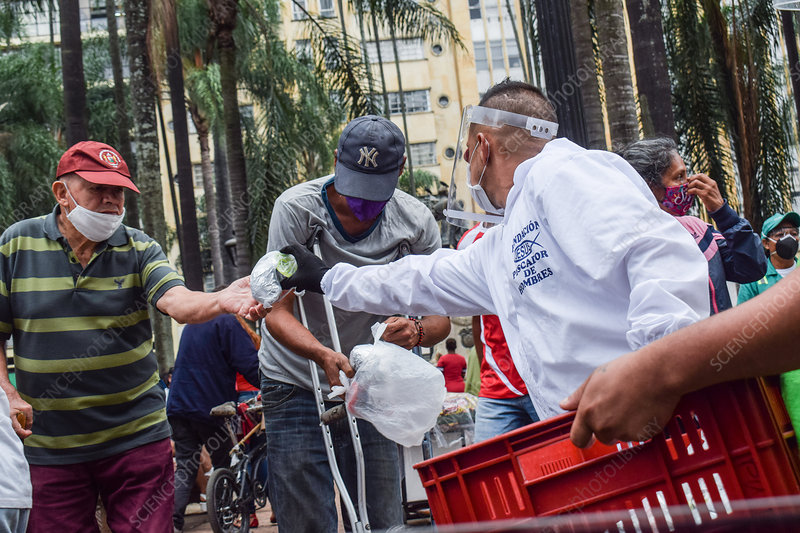 Food parcel distribution during Covid-19 outbreak