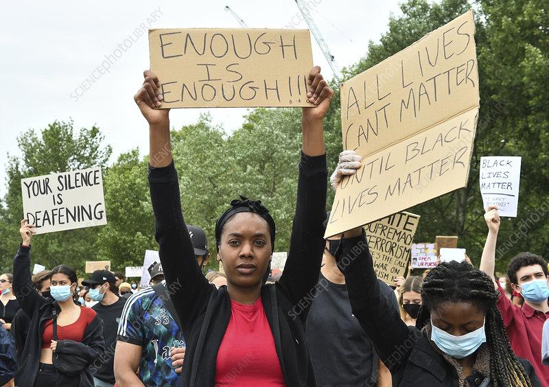 Black Lives Matter protest, London, UK