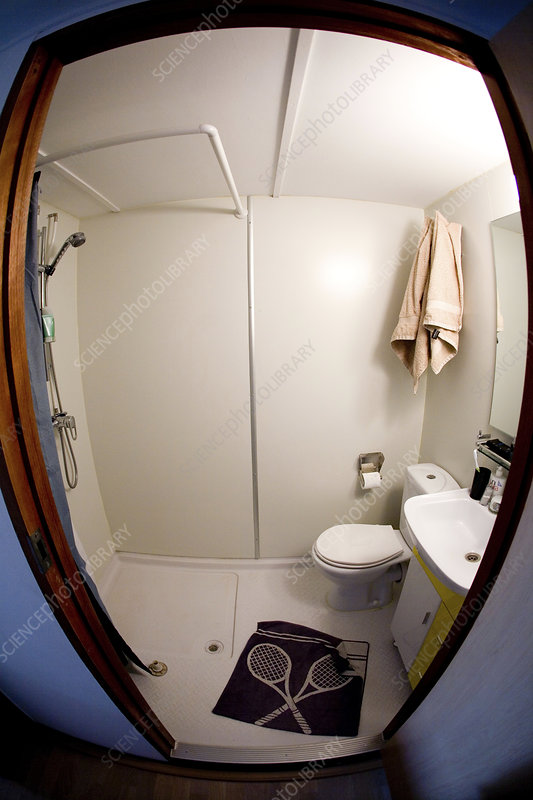 Shower room in sea container house
