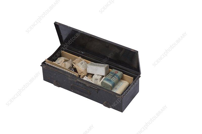 British military first aid box, 20th century
