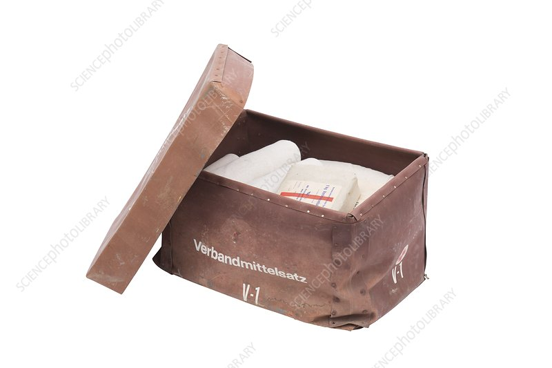 German military first aid box, WWII